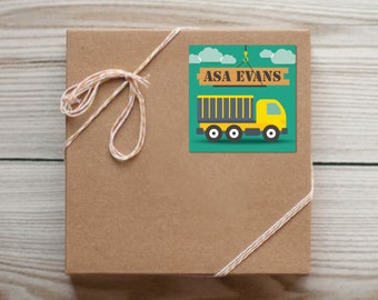 Set of 25 Personalized Dump Truck Enclosure Cards Contact Cards Calling Cards or Gift Tags