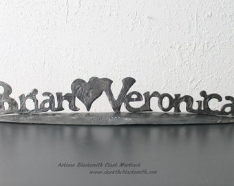 Personalized Valentine, Name sign, family plaque, True love quotes, Love signs, Iron Valentines gifts for her, for him