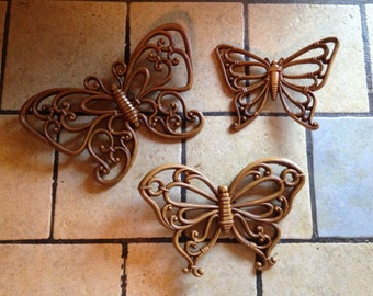 Butterfly Wall Plaques by Homco