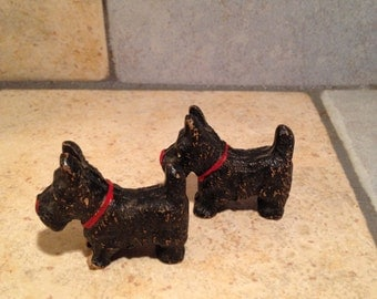 2 Wooden Scottie Dog Toys
