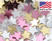 Star Resin Cabochons - 15mm Mini Stars Mirror Mix Resin or Acrylic Cabochons - 20 pc set