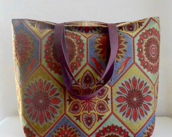 Stained Glass BIG Carry All Tote Bag - Ready to Ship