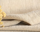 C 866 antique handloomed french lin grainsack fabric upholstery 12.24yards 20.47wide OATMEAL cushion