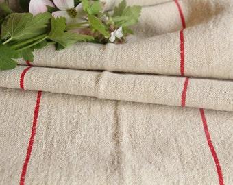 R 134 antique BRIGTH RED  5.027y lin upholstery fabric tablerunner cushion 22.83wide wedding decor