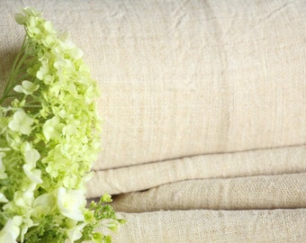 R 236:  handloomed antique linen 11.69yards french lin curtain panel;  wedding, tablecloth, upholstery, roman blinds