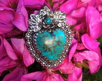 Royston Turquoise Sacred Heart Ring