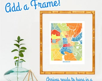 FRAME IT!  Add a Gorgeous Frame to any Art Map!  Stunning Handcrafted Frame Made in the USA.  Easy Schmeasy Framing and Free Shipping.