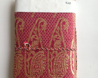 Half Price Sale, Handmade Journal,Clearance,Destash,Sari Journal,Scratch and Dent Sale,Indian Book,Embroidered Book Cover,Blank Journal,