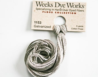 Weeks Dye Works hand over-dyed embroider floss cross stitch crewel embroidery