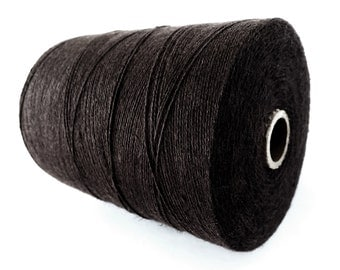 Brown Linen & Organic Cotton Cord 0.7mm - 10 meters / 32.8 ft
