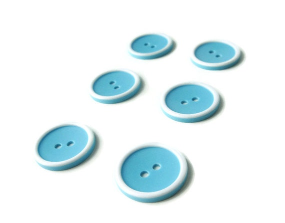 Rainbow sewing button - Blue