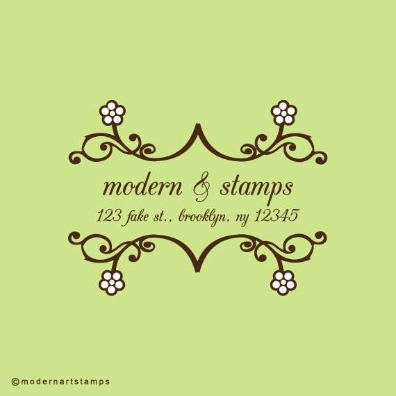 Custom Rubber Stamp   Custom Stamp   Return Address Stamp   Custom Address Stamp   Personalized Stamp   Bookplate Stamp   C206