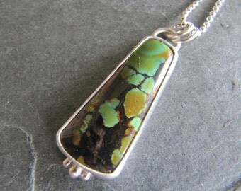 Chinese Turquoise Pendant in Sterling Silver