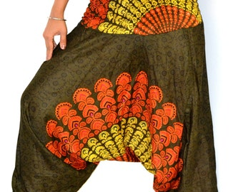 Harem pants/Mandala Harem /Hippie Pants/Gypsy Pants/Romper/Yoga pant/Bohemian pants/wide leg pants/Chakra harem Pants/Jumpsuit- LAST ONE