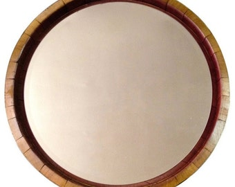 Inverted Wine Barrel Mirror