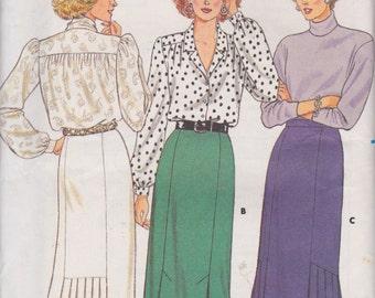 Butterick 4123 Misses' Skirt Size 12 Straight Skirt, Pleated Skirt Vintage UNCUT Pattern 1986