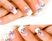 24 Lotus Blossoms or Zibu Angelic symbol Nail Decals