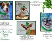 St. Patrick's Day Puppies Card set of 4 with envelopes