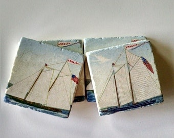 Sailboat Coasters Father's Day Gift