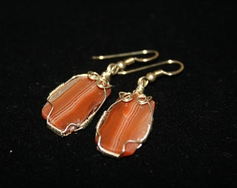 Handcrafted Lake Superior Agate Earrings