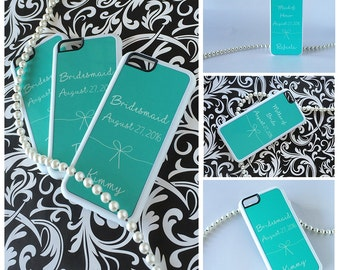 Silicone Custom iPhone Case Personalized for your Wedding iPhone 6 Case, iPhone 6 Plus, 6s Case, Bride Phone Case, Bride iPhone Case, Mint