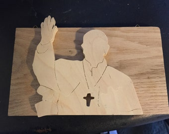 Pope wall hanging