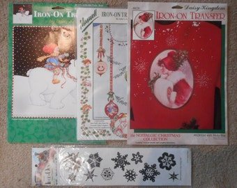 Vintage Christmas Iron-On Transfers