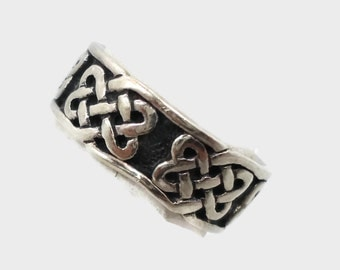 Celtic Knot Ring, Sterling Silver, Celtic Band, Vintage Ring, Irish Jewelry, 925, Size 6, Irish Wedding Band, Unisex, Mans Mens