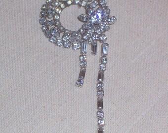 Vintage Original by Robert Rhinestone Pin or Brooch - Prong Set