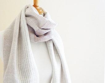 "Big Wool Scarf Alpaca Linen 21"" x 78"", 53 x 200cm Ombre"