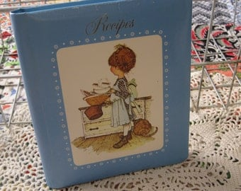 Adorable Vintage 1970s Holly Hobbie Recipe Album