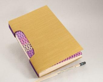 Golden Journal, Notebook, Sketchbook or Guestbook, Hand-Bound