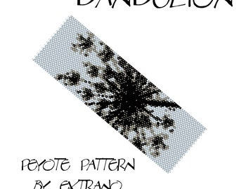 Even peyote pattern - DANDELION - 4 colors only - Instant download