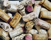 Custom wine cork print - Watercolor giclee print