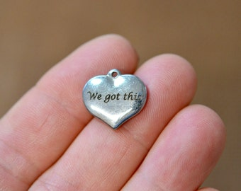 We got this Laser Engraved  Charm CC24
