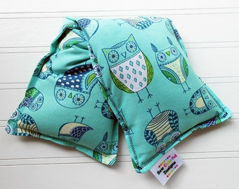 Microwavable Heating Pad and Ice Packs, Keepin' Cozy Willy Pad; Warm Compress and Cold Compress, 4 Sizes - Whimsical Owls