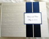Wedding Guest book FujiFilm Instax MINI book for 50 Photos- custom fabrics,Satin Ribbon Colors, Customized Monogram Card