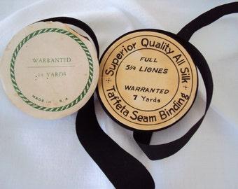 Vintage Ribbon Rolls - Silk Taffeta and Grosgrain ribbons