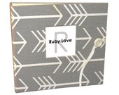 Gray Arrows Album | Ruby Love Modern Baby Memory Book