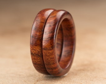 Size 5 - Stacking Mopani Wood Rings No. 133