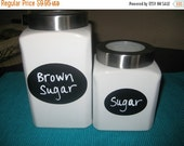On SALE- 24 Oval Chalkboard Labels, Canister Labels, Kitchen Labels, Get Organized