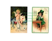 Saint Patrick's and Valentine's Day  Printable Digital Download Vintage Postcards saturday sale
