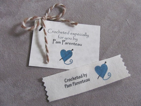 Clothing Labels Crochet Labels Name Labels With Yarn Heart