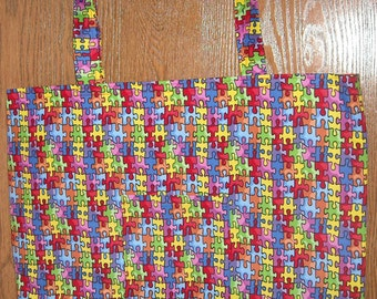Autism bag with red lining