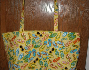 Yellow flip flop beach bag