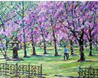 On Sale Spring Cherries Original Oil Painting