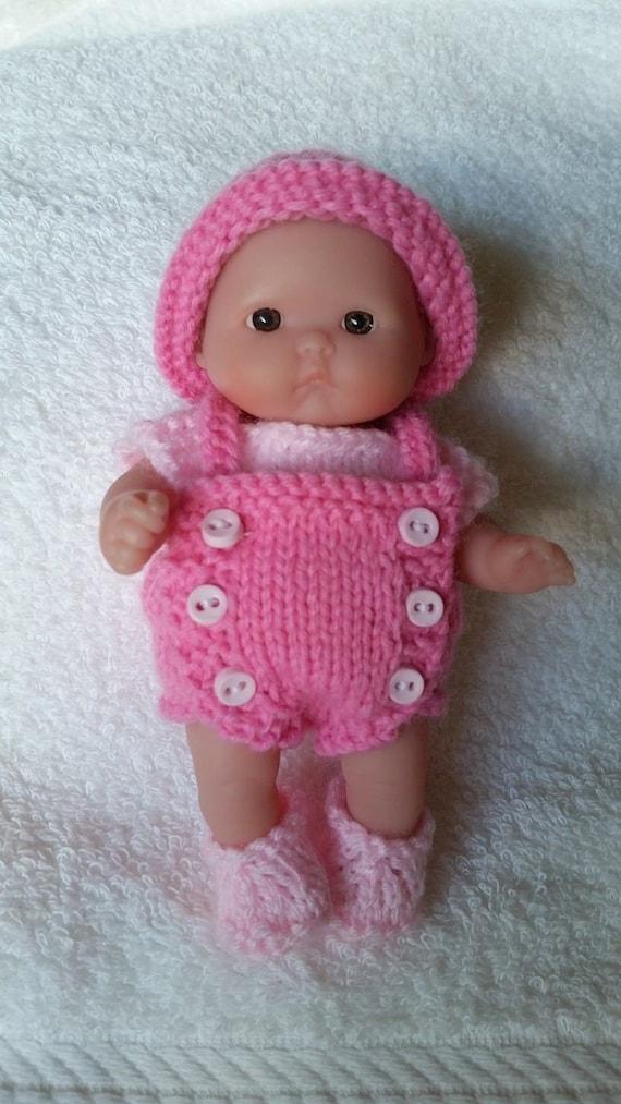 Knitting Terminology M1 : Berenguer knitting pattern inch chubby bib front romper