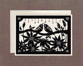 In The Night Flower Field - Notecard