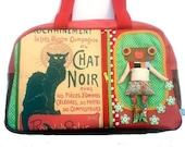 """Bag molly creative bag unique bag n44 """"Le chat noir"""""""