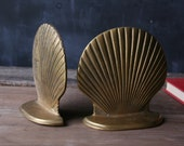 Brass Shell Bookends Vintage From Nowvintage on Etsy